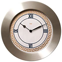 BAI Brushed Aluminum Wall Clock, Athens