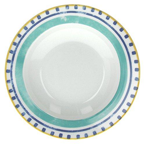 Tognana Olimpia Alhambra Lot de 6 Assiettes Creuses Multicolores en Porcelaine