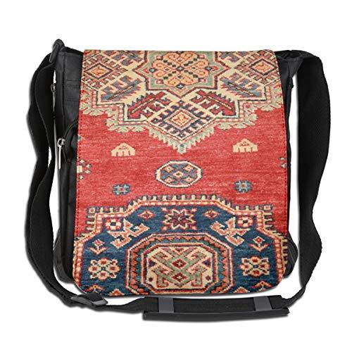 Doinh Natural Dyed Handgemaakte Anatolische Tapijt op maat Canvas Messenger Tas, Inclined Schoudertas, Geschikt voor zowel mannen als vrouwen