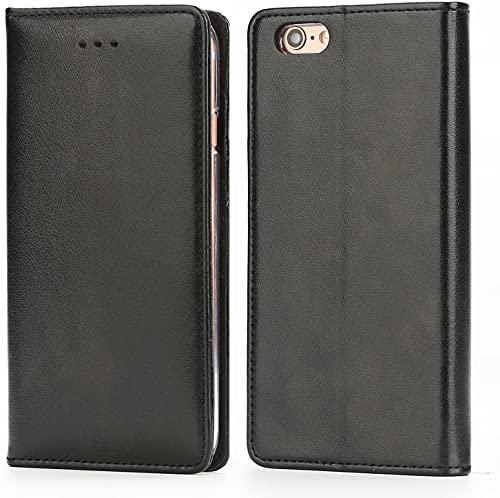Handy 6 Hülle,IPHOX Handyhülle iPhone 6S Lederhülle Schutzhülle Tasche Leder Flip Hülle Wallet Stylish mit Standfunktion Kartenfächern Brieftasche Etui für Apple iPhone 6 / 6S - Schwarz / E