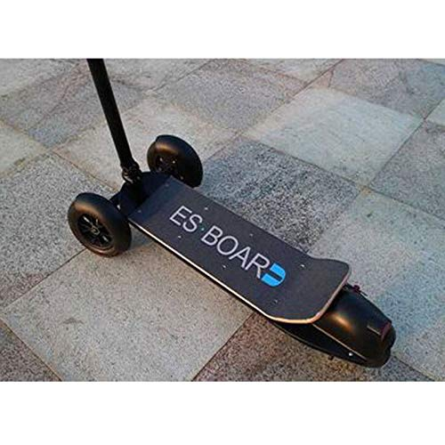 Patinete eléctrico Patín eléctrico Electric Scooter Silla de Ruedas eléctrica Plegable Scooter Ligero Scooter eléctrico de Tres Ruedas Sistema de Doble Freno,Negro
