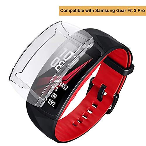 Chofit - Carcasa Protectora para Gear Fit 2 Pro, Protector de Pantalla de TPU Suave, Compatible con Samsung Gear Fit 2 Pro Fitness Tracker, Transparente