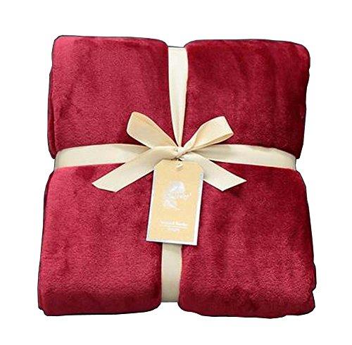 [C] Corail Velvet Throw Blanket Couverture de Canapé Canapé Couverture Pour Nap
