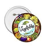 DIYthinker Verduras Maíz rojizo de la col china pernos redondos insignia del botón 5pcs regalo de la decoración Ropa Multicolor S