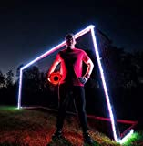 GlowCity Light-Up Soccer Goal and Ball-Kit – Play Glow-in-Dark Soccer at Night with Super Bright LED Lights – Includes Ball and Goal Lights but not Net (Aqua)