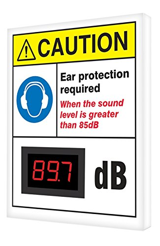 Accuform SCS605 Decibel Meter Sign,12 x 10 inch