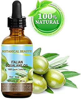 SQUALANE Italian Olive. 100% Pure/Natural/Undiluted Oil. 2 fl.oz- 60ml. 100% Ultra-Pure Moisturizer for Face, Body & Hair....