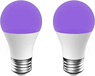 Onforu UV LED Black Lights Bulb, 7W A19 E26 Bulb, UVA Level 385-400nm, Glow in The Dark for Blacklight Party, Body Paint, Fluorescent Poster, Neon Glow (2 Pack)