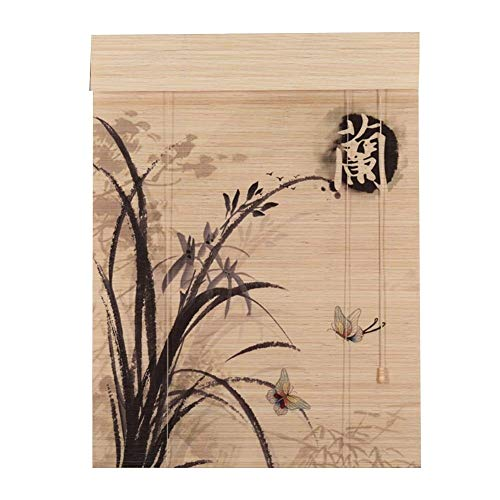 LXJYMX-Bamboo curtain Persianas orientables de bambú de Muebles orientales (PATRÓN : B, Tamaño : 100x200cm)