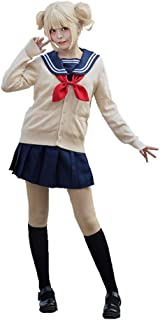 Ailancos Himiko Toga Cosplay Costume My Hero Academia Sweater Sailor Dress Oufit