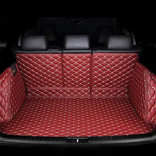 SUNQQJ Protezione Bagagliaio Auto Copri Baule Auto per Seat Leon Ibiza Cordoba Toledo Marbella Terra Ronda Telo Portabagagli Auto Accessori, Vino Rosso