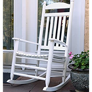 Oliver and Smith - Nashville Collection - Heavy Duty Wooden White Patio Porch Rocker- Rocking Chair - Made in USA - 26  W x 34  D x 47  H - 400 LBS