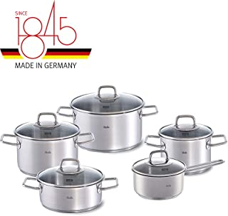 Fissler viseo Set 5tlg KT16/20/24+BT20+STK16mGD Batería de cocina, acero inoxidable