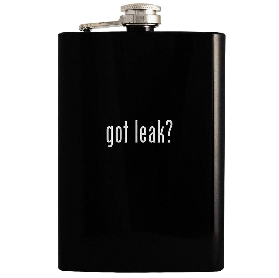 got leak? - Black 8oz Hip Drinking Alcohol Flask