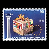 FGNDGEQN Colección de Sellos Grecia 1992 Comunidad Europea Mercado Unificado Sellos Extranjeros