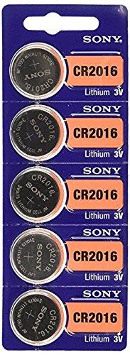 Lot de 10 piles au lithium Sony CR2016 3 V.