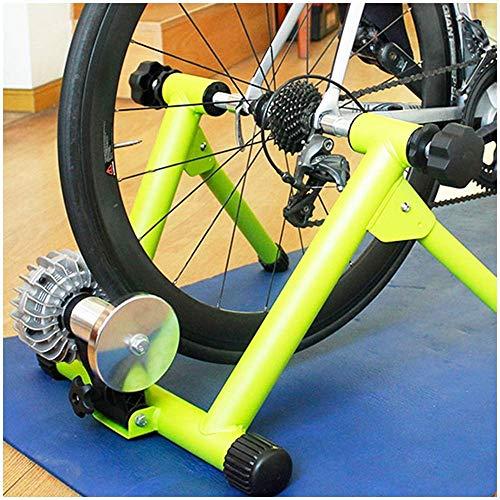 YLJYJ Vélo Turbo Trainer, Support pour vélo Fluide - Vélo Turbo Trainer - Cadre en Acier Pliable Quiet Real Road Feel Indoor Bike Trainer Stand (Vélo d'exercice)