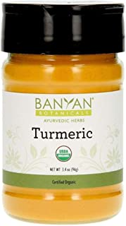 Banyan Botanicals Turmeric Powder - USDA Organic, Spice Jar - Curcuma Longa - Traditional Cooking Spice That Promotes Dige...