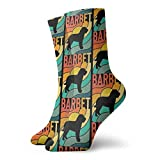 Barbet Dog Vintage Geschenk Tierliebhaber Socken Hausschuh Socken für Frauen, lustige Socken 30 cm
