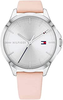 Tommy Hilfiger 1782106 Womens Quartz Watch, Analog Display and Leather Strap, Silver