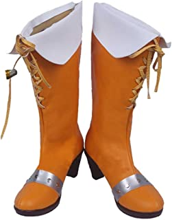 Zunpeng Serpent's Sin of Envy Diane Cosplay Boots Giant Halloween Orange Long PU Leather Shoes