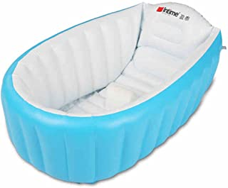 Intime Inflatable Baby Bath Tub, Baby Children Shower Tub (For 0-3 Years), Blue