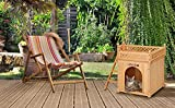 Hundehütte SONNENTERRASSE Hundehaus Tierhaus Hundehöhle Hund Holz Box Garten NEU - 2