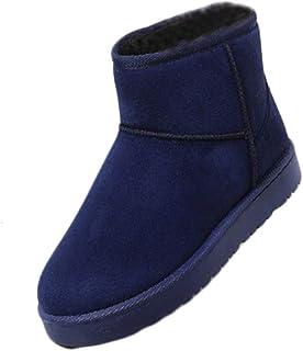 [Inlefen] 婦人向け 大きいサイズ スノーブーツ 冬 平らな プラスベルベット あたたかい 靴