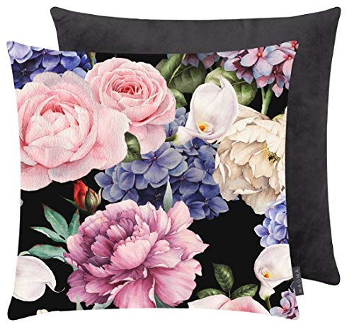 Magma-Heimtex Blumige Kissenhülle Dori Digitaldruck mit schönen Blumen Blütenpracht samt weicher Bezug Soft Feeling ca. 50 x 50 cm