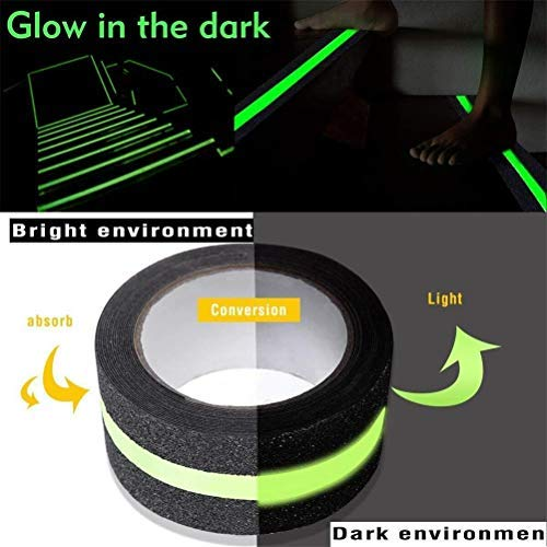 Anti-slip Traction Tape Anti-kid Glow in The Dark Walk Strip veiligheidstape met Beste Grip Schurende Lijm voor Trap, Vloeren, Garage 50mm*3m