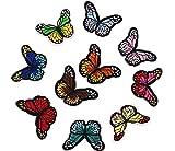 Westeng 10 Parches Bordados de Mariposa Parches para Ropa Termoadhesivos Cute DIY Bordado Patch Sticker Ropa Parches para la Camiseta Jeans Sombrero Bolsas Size 6.7 * 4.7CM