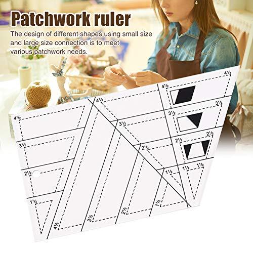 Regla de patchwork, DIY para acolchar casa con forma de diamante, regla de retazos de tela para cortar fácilmente para acolchar, coser y manualidades plantillas de costura profesional