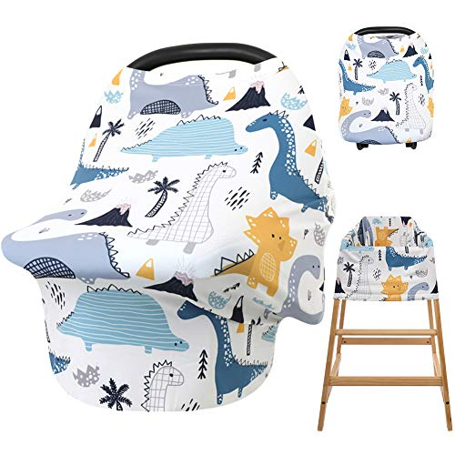 HONGTEYA Baby Car Seat Covers Nursing Cover Soft Breathable Infant Car Seat Covers for Baby Multi Use Breastfeeding Cover Baby Stroller Cover Carseat Canopy for Boys and Girls Shower Gifts