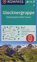 Glocknergruppe, Nationalpark Hohe Tauern 1:50 000: 5in1 Wanderkarte 1:50000 mit Panorama, Aktiv Guide und Detailkarten inklusive Karte zur offline Verwendung in der KOMPASS-App. Fahrradfahren. Skitouren.