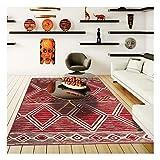 UN AMOUR DE TAPIS BC Berber 60x110 cm Tapis Moderne Tapis Entrée Tapis Rectangulaire Tapis Rouge