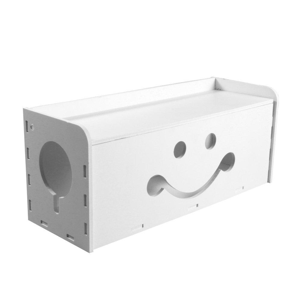 Gestión de cables caja organizador, grande sistema para cubrir y ocultar cables, tiras de alimentación, USB
