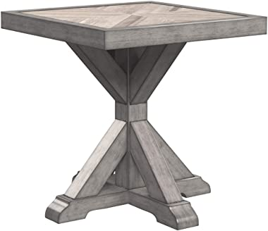 Signature Design by Ashley - Beachcroft Outdoor Square End Table - Porcelain Top - Beige