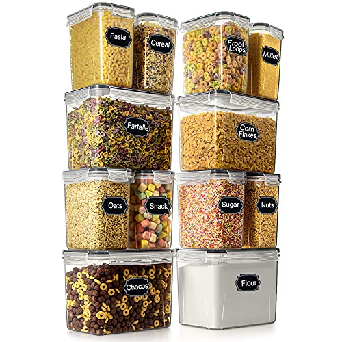 Airtight Food Storage Container - Wildone Cereal & Dry Food Storage Containers Set of 12, Leak Proof...