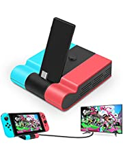 Archycals Switch Dock for Nintendo Switch, Portable TV Dock Station Replacement Charging Dock for Official Nintendo Switch, Foldable Type C Switch Docking Station with 4K HDMI and USB 3.0 Port