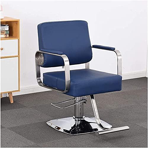 Salón de la belleza pesado Salón de barbero Silla giratoria Silla de salón para el cabello Silla de peluquería, silla de peinado hidráulico reclinado de trabajo pesado Silla de peluquería de peluquerí