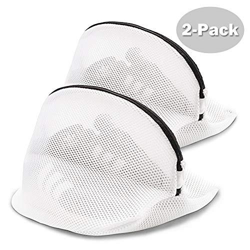2er Pack Mesh Wäschesack für Schuhe, tragbarer Schuhwaschschutz in Waschmaschine Hängende Mesh Wäsche Waschbeutel mit Reißverschluss für Turnschuhe, Socken, BHs