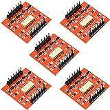ZHITING 5 pezzi TLP281 Modulo IC opto-isolatore a 4 canali per scheda di espansione Arduino Isolamento fotoaccoppiatore ad alto e basso livello 4 canali