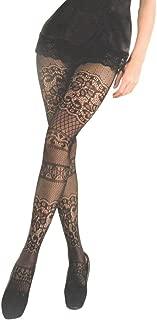 Killer Legs Women's Queen Plus Size Fishnet Pantyhose 168YD040Q, Black, Intarsia Lace