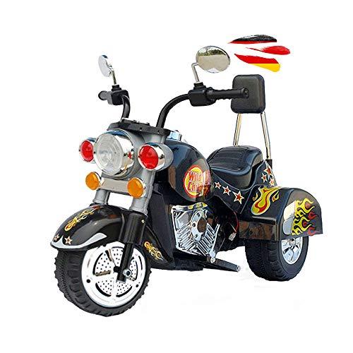 HSP Himoto Kinder Elektromotorrad Wild Child Deluxe-Edition mit MP3 Musik Anschluss, realistischen Soundeffekten, Power-Akku, 12Watt Motor und wunderschönem Design