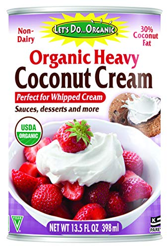 Let's Do...Organic Heavy Coconut Cream, 13.5 Ounce Can, White