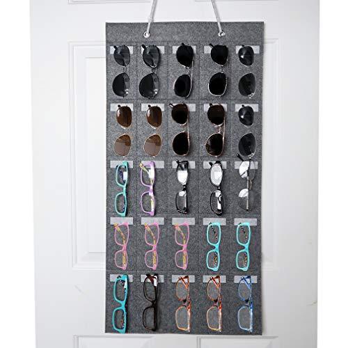 Evelots Eyeglasses/Sunglasses Organizer-Wall/door-25 Slot Soft Felt