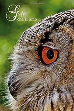Gufi che li amo: Gufo dalle lunghe orecchie. Formato A5, 120 pagine, foderato in grigio discreto. Rubriche quotidiane, appunti e diario, taccuino e ... gli amici della natura e gli uccelli