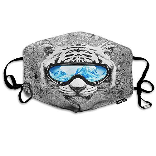 F Tiger Mask - Máscara de tigre con gafas de esquí, unisex, reutiliz