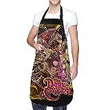 DJNGN Delantal de cocina ajustable impermeable con bolsillos The Dark Crystal, ideal para lavar platos, trabajo de laboratorio, aseo de perros, limpiar pescado, barbacoa, pintar para hombres y mujeres
