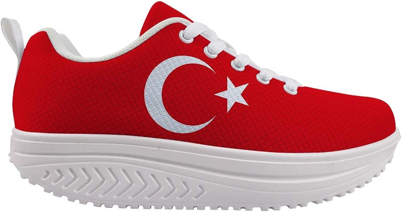Owaheson Swing Platform Toning Fitness Casual Walking shoes Wedge Sneaker Women Turkish Flag